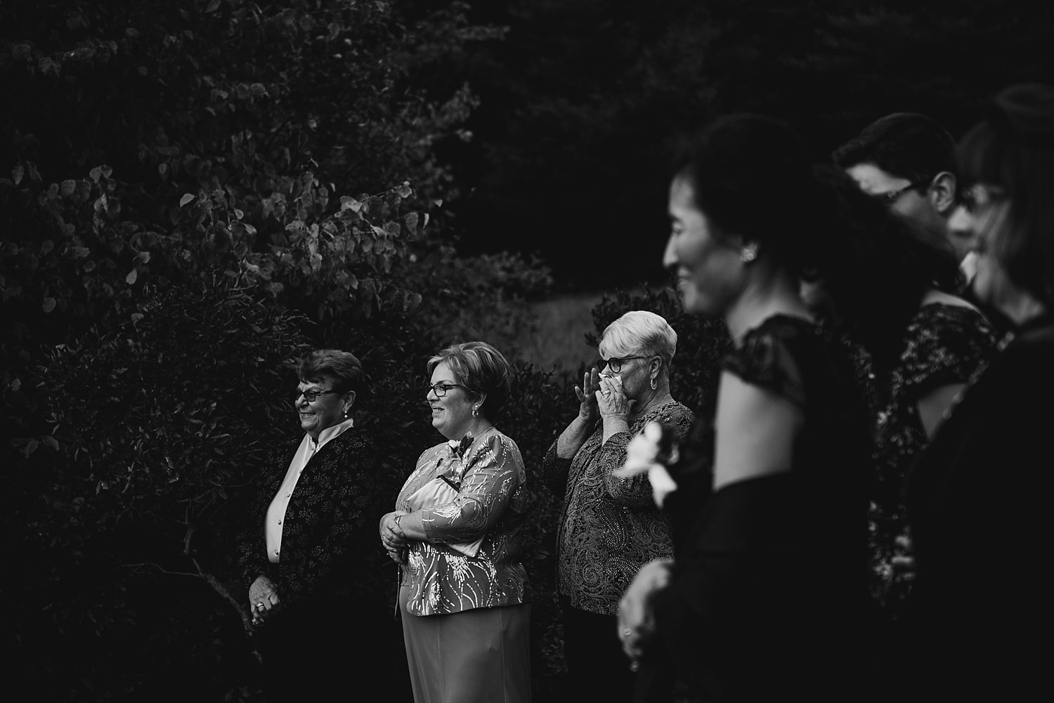brides family watching ceremony