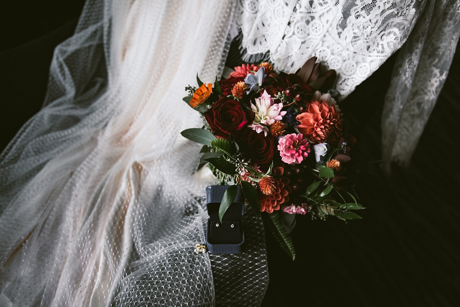 Wedding dress and Flowers