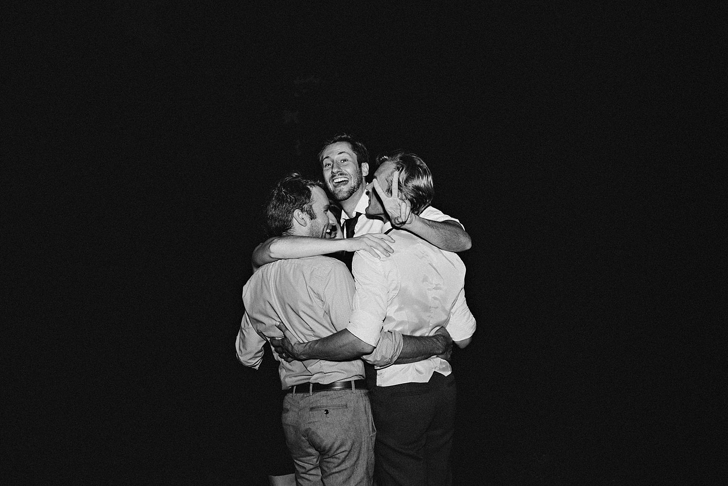 Grooms men in the dark