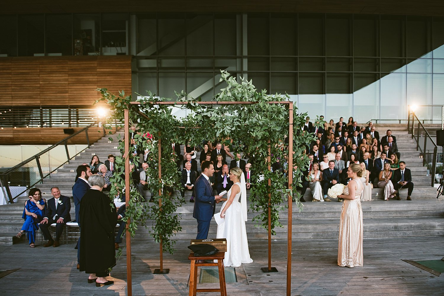 wedding ceremony under chuppah