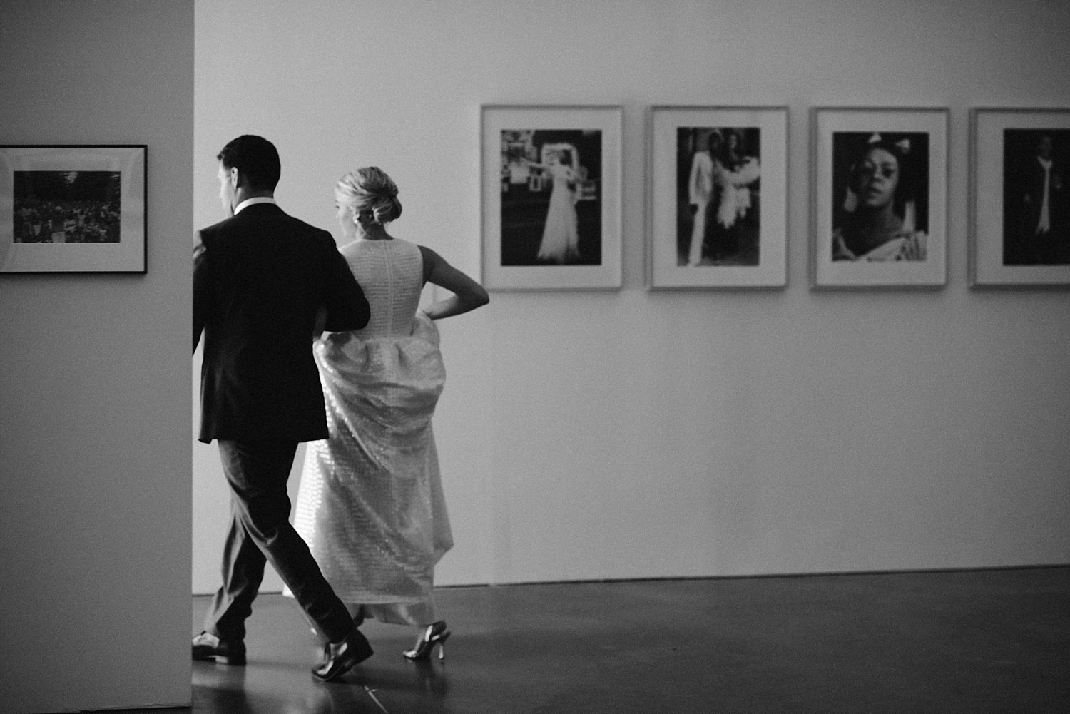 bride and groom in the ICA