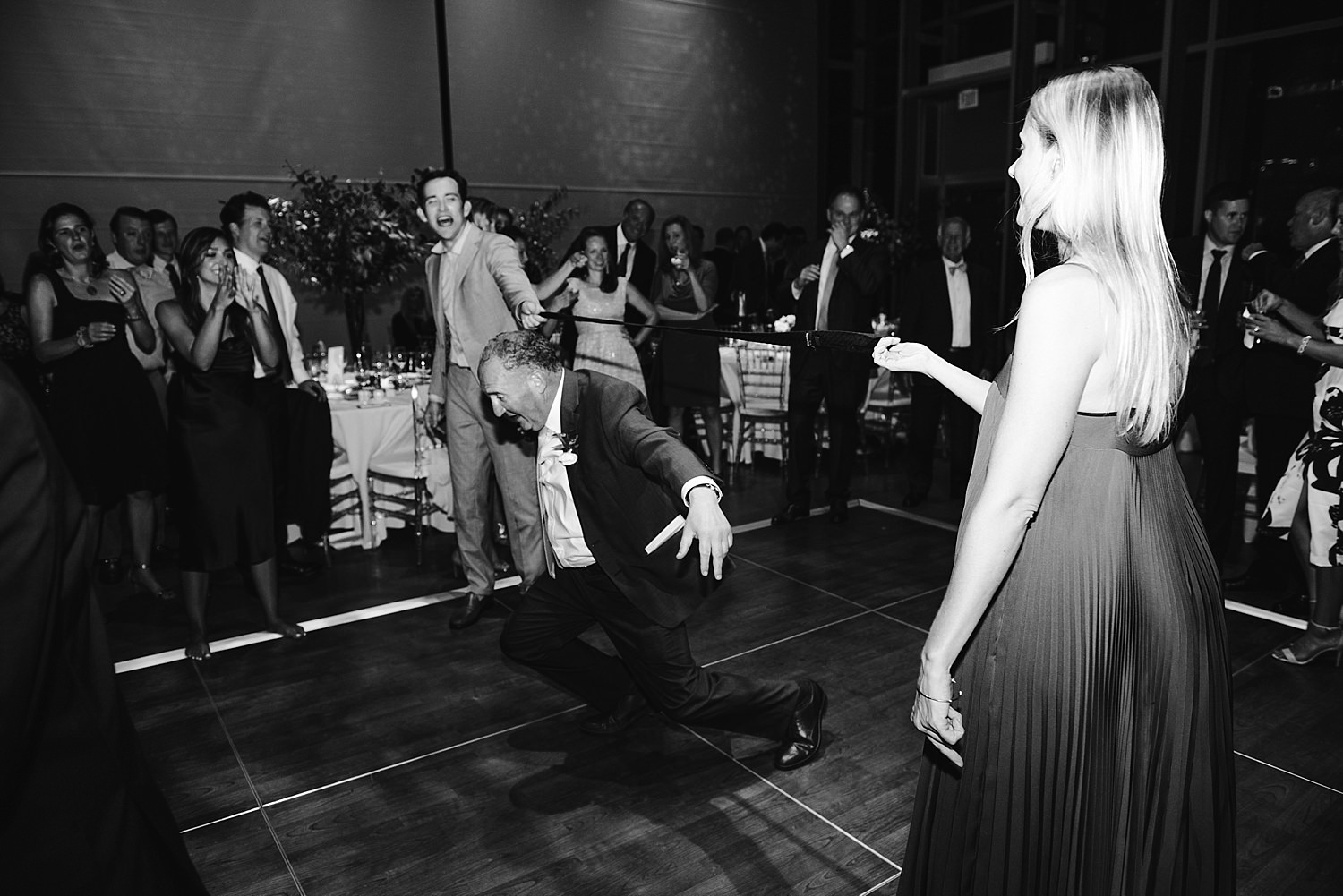 wedding dancing limbo