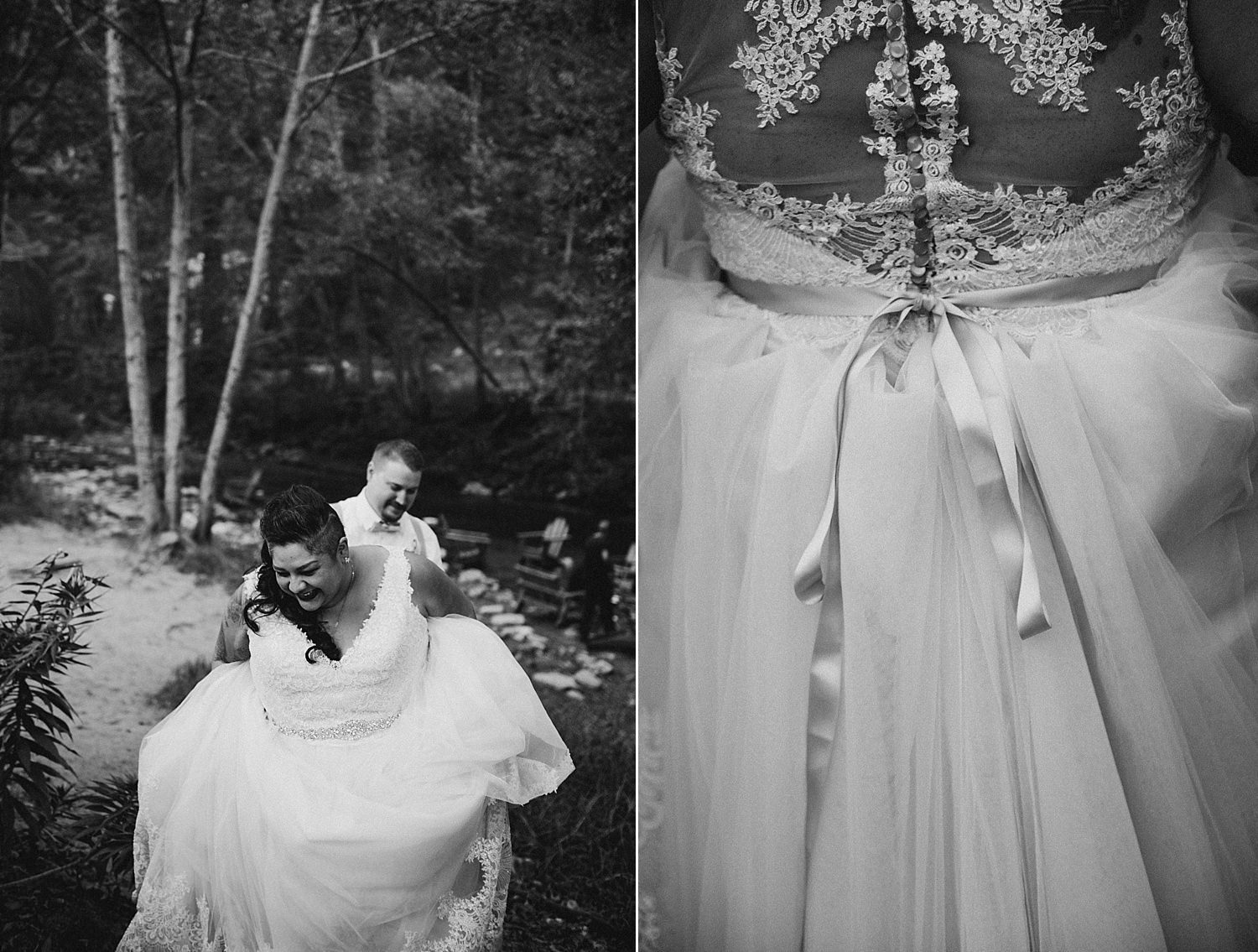 bride and details