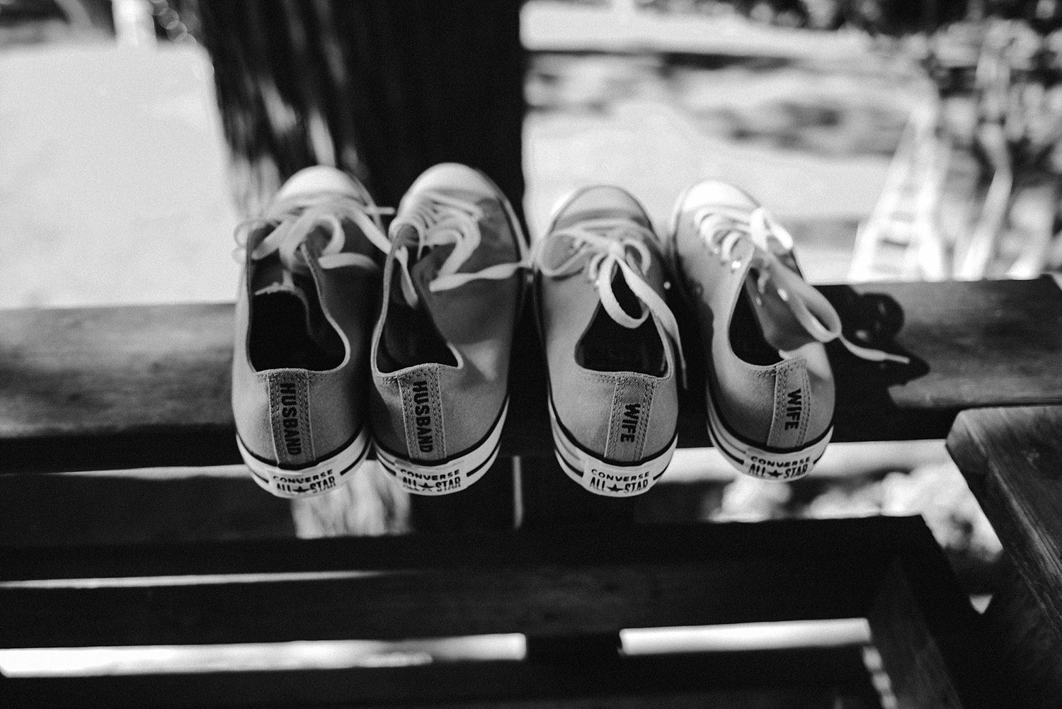 His and her wedding converse