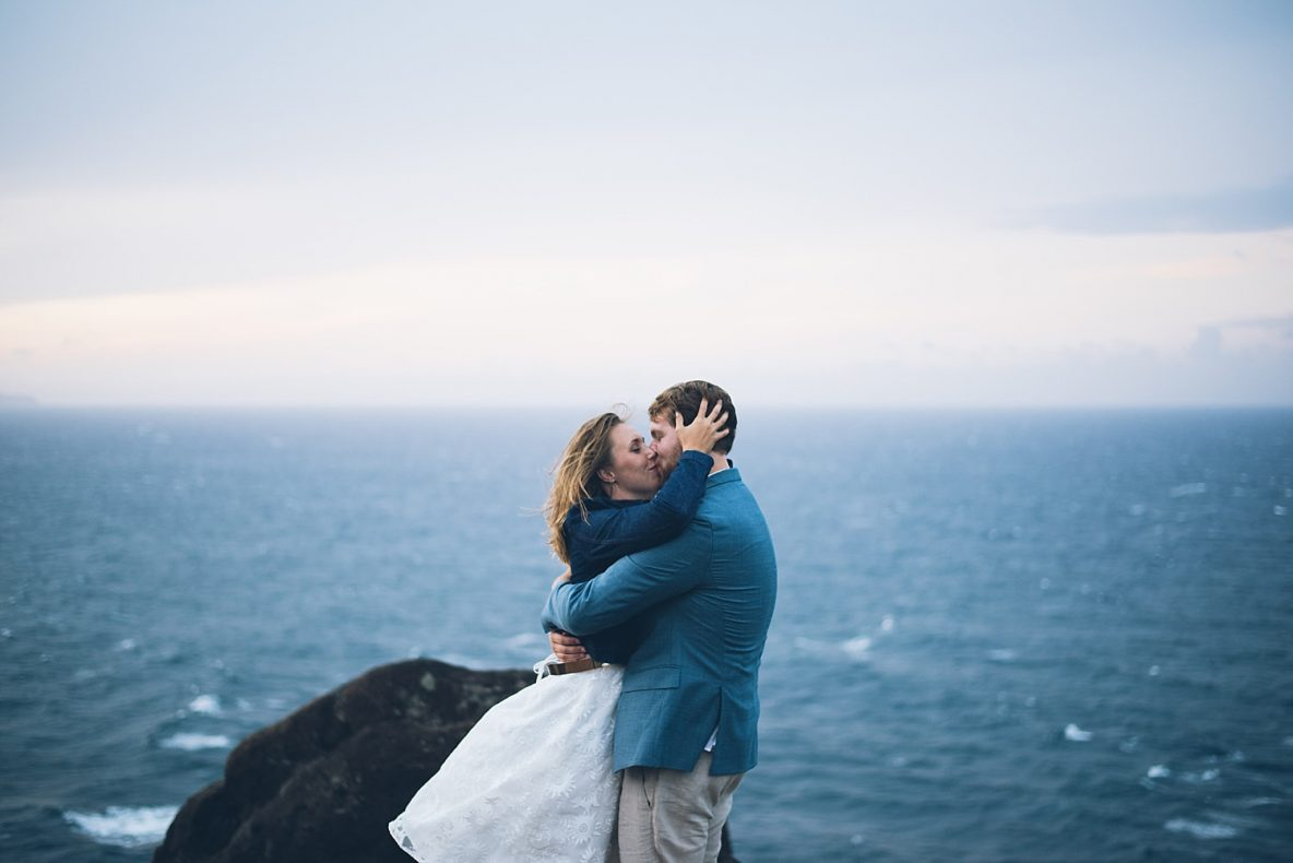 a big kiss on the maui cliffs