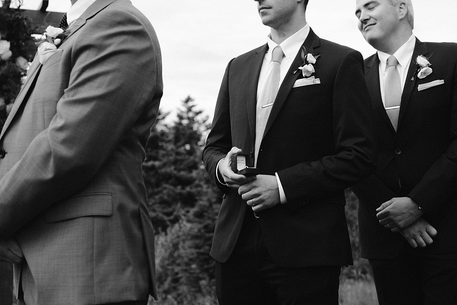 wedding rings at ceremony
