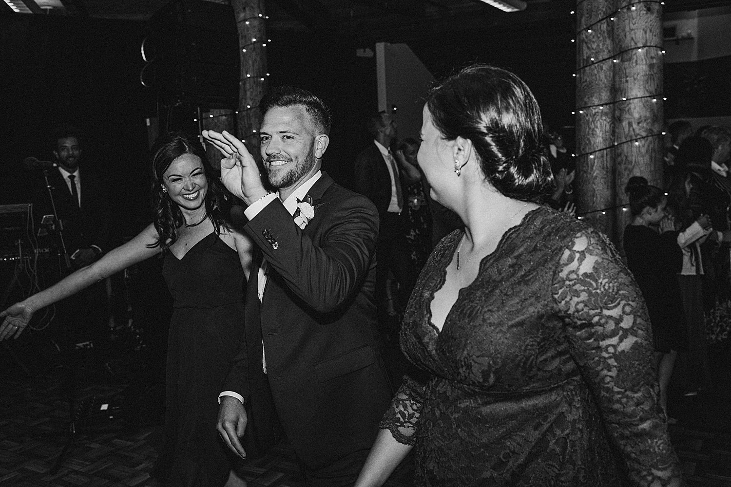 candid of Wedding guests celebrating