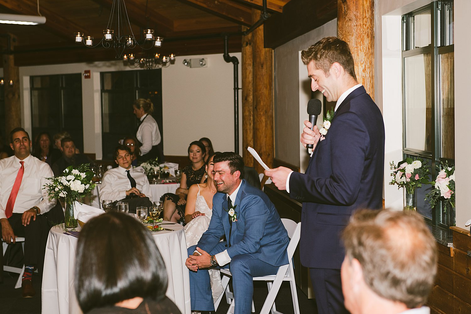 best man giving toast