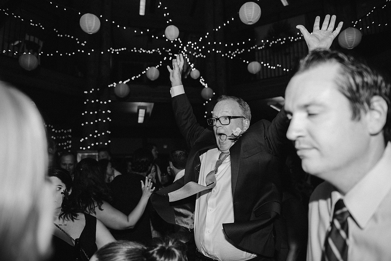 father of the groom on the dance floor