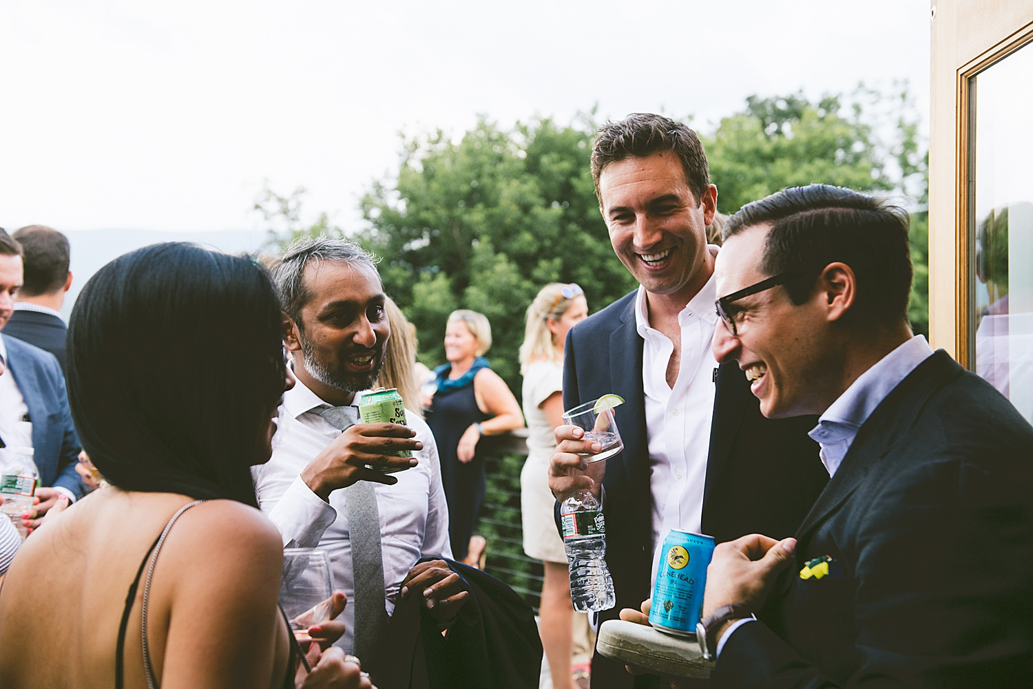 Wedding Guests mingling during Cocktail Hour