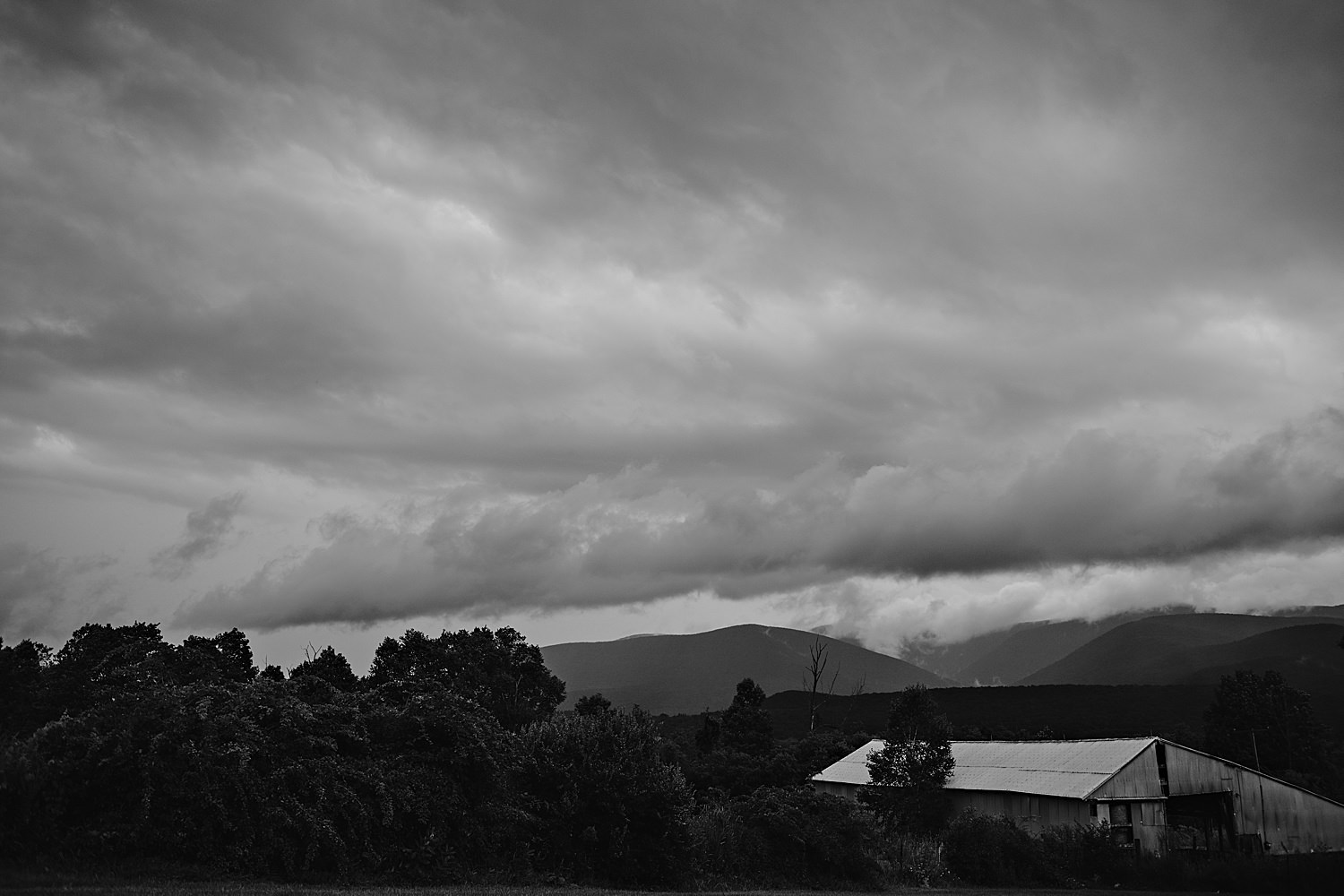 Moody scening image of the storm over Cricket Creek Farm