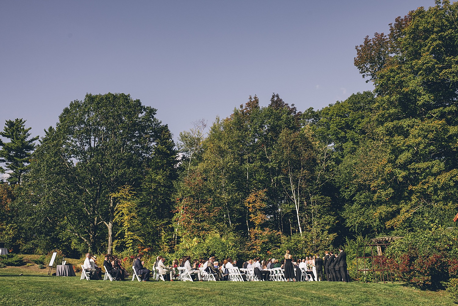 wide shot of the whole wedding