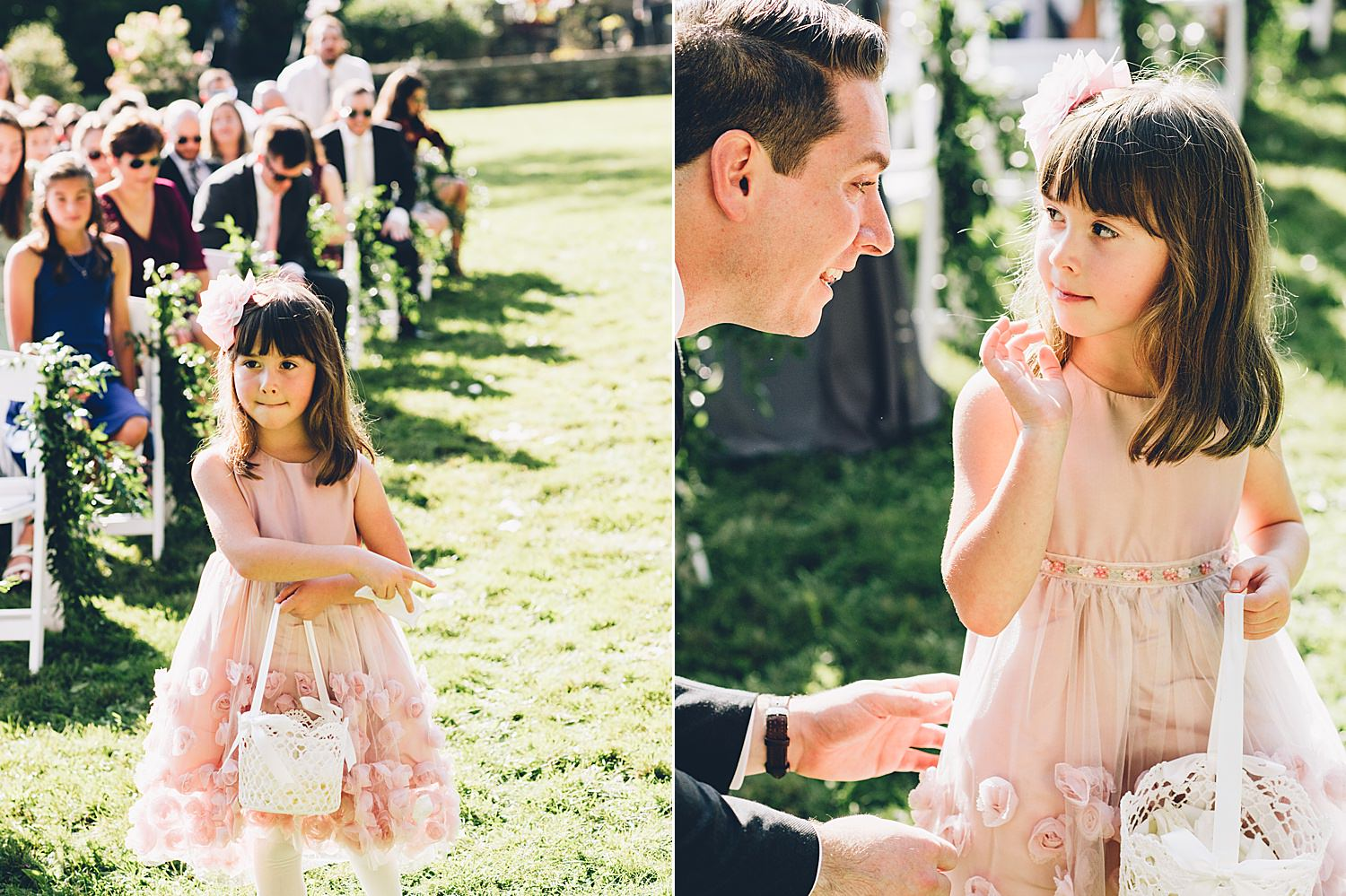flower girl coming down the isle