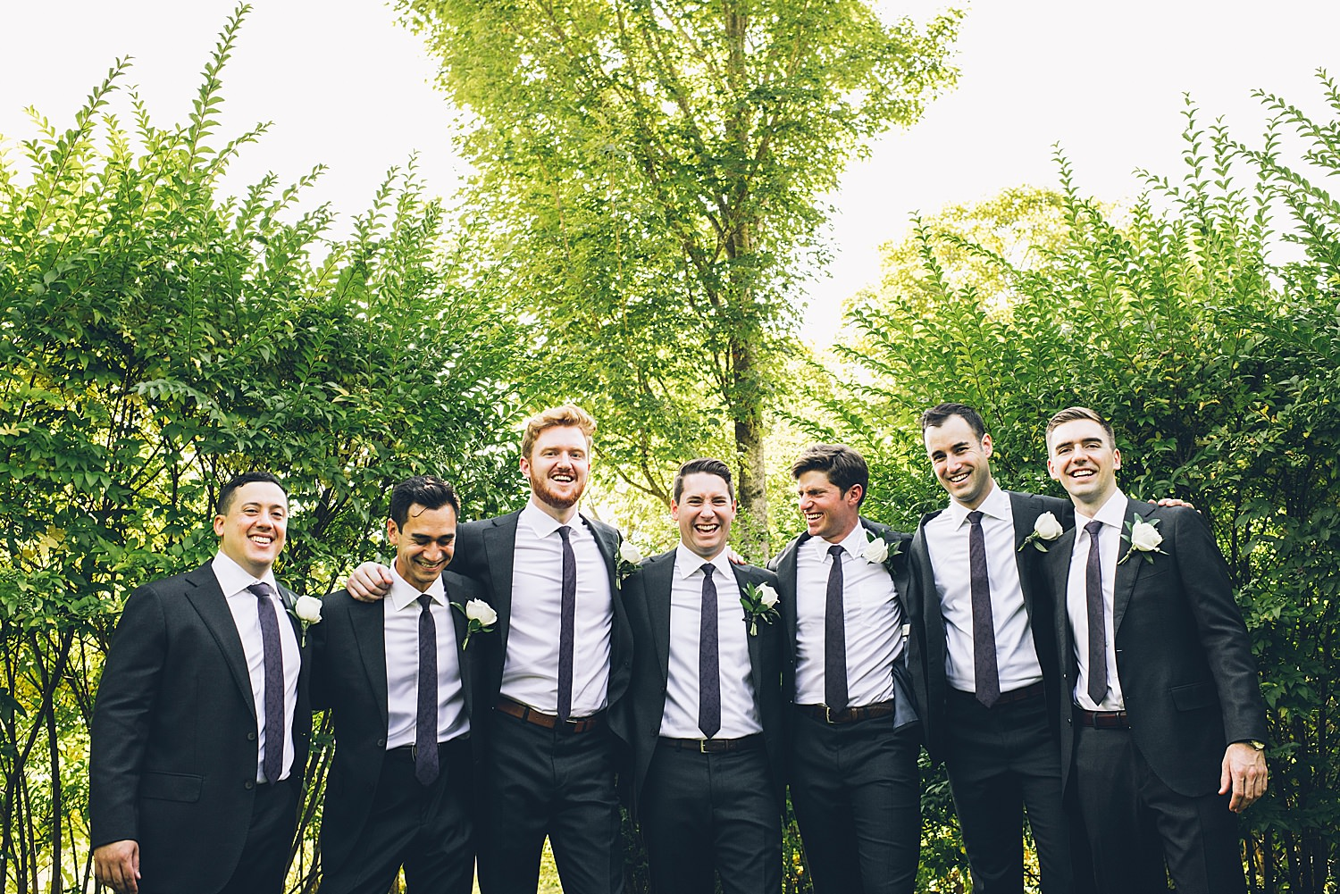 groom with all his grooms men